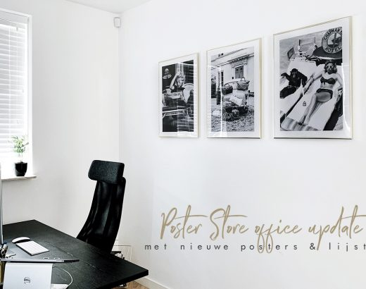 Home office update met posters van Poster Store - As Seen by Alex